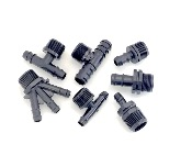 "3/4"" thread to barbed adaptor (pack of 5)"