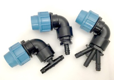 20mm Compression Elbow to LeakyPipe connectors